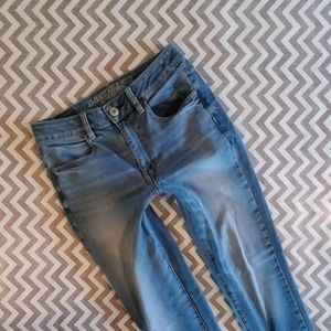 American Eagle HI Rise jeggings!